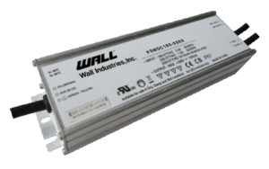 The PSMDC185 series of LED drivers offers up to 200 watts of output power and IP65 or IP67 ratings