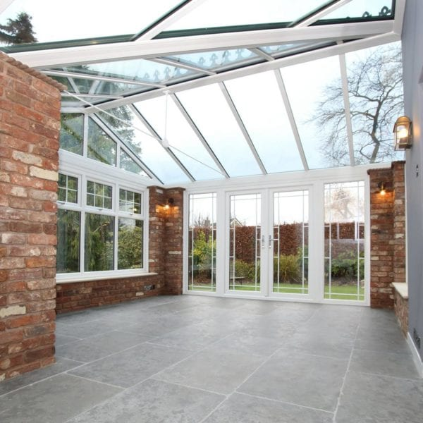 Orangery home extension with tiled floor in Liverpool