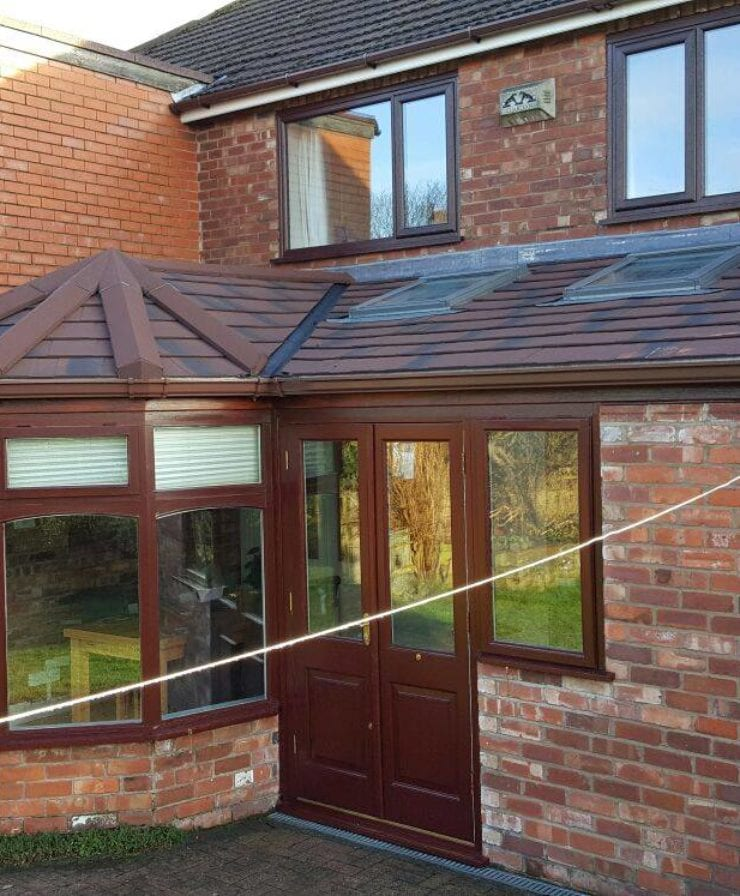 Single storey extension with pitched roof in Liverpool