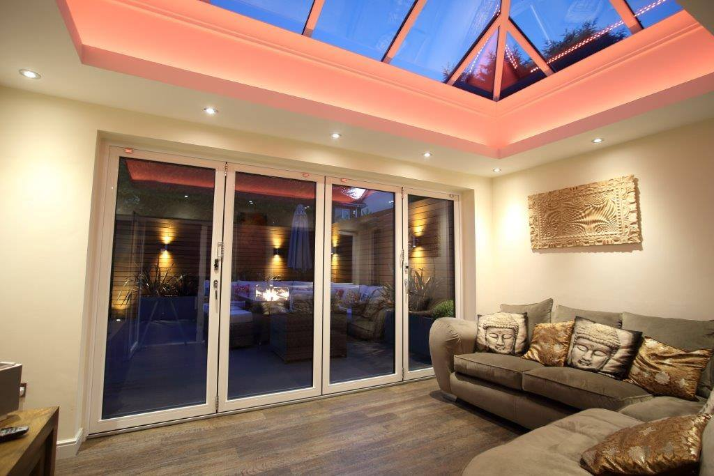 Interior look at bifold doors