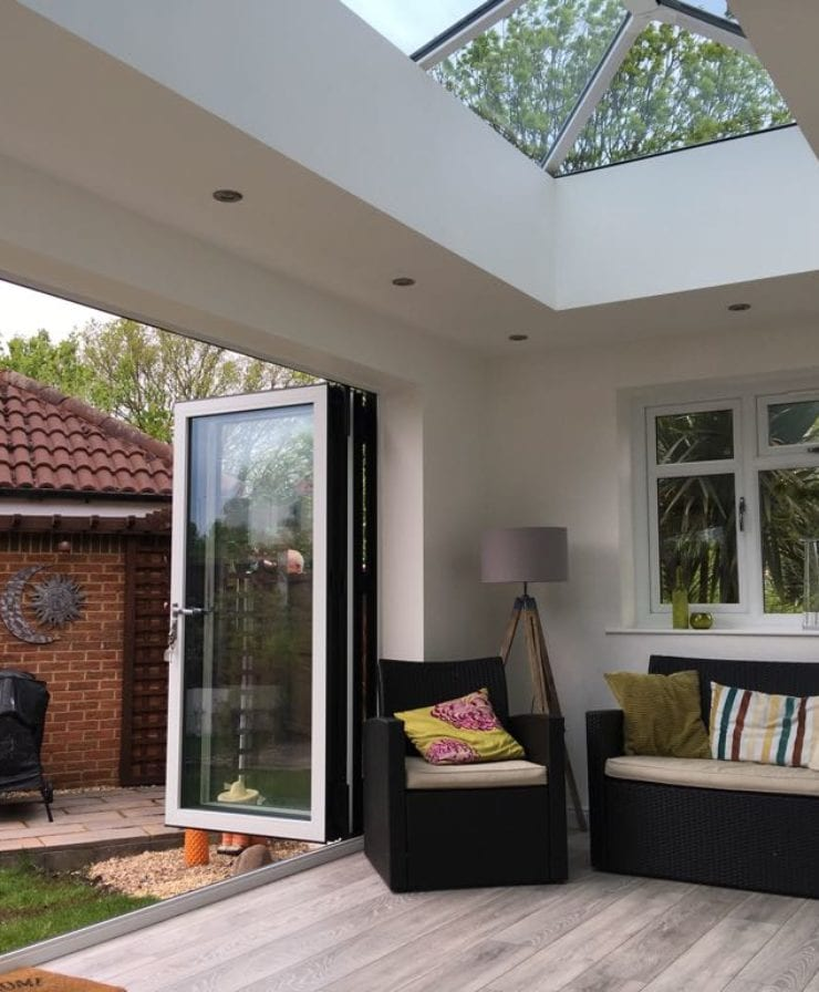 Aluminium bifold doors in Chester