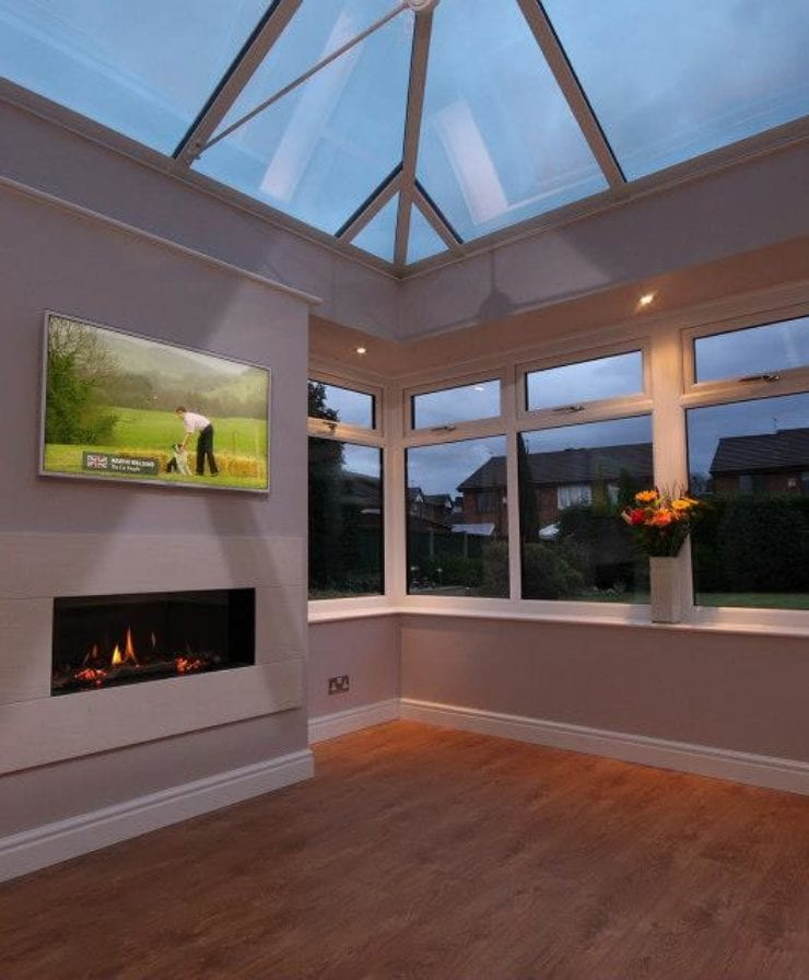 Orangery extension with roof lantern in Liverpool