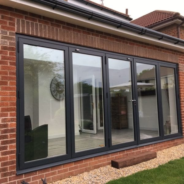 Single storey home extension with bifold doors