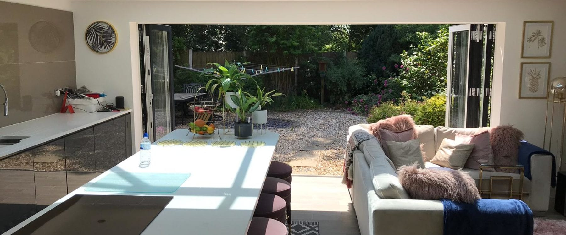 Kitchen extension with bifold doors in Liverpool