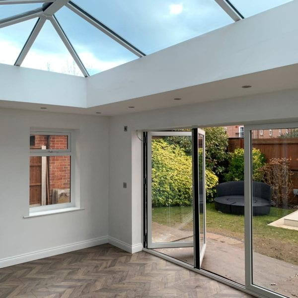 Orangery extension in Liverpool with bifold doors