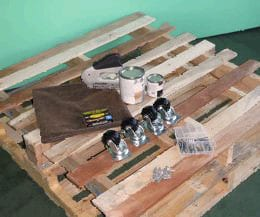 make a coffee table out of pallets