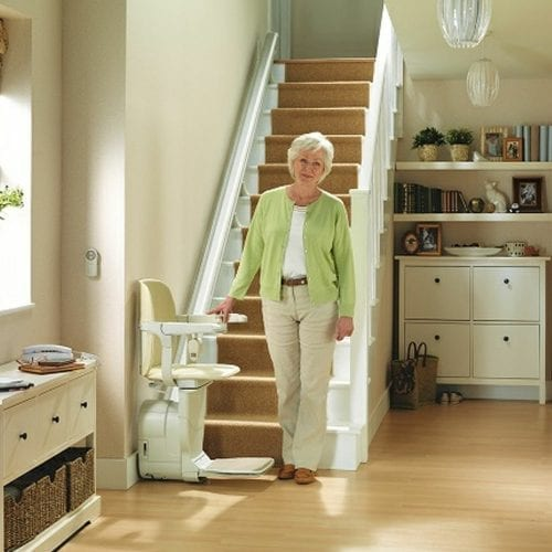 image of a straight stairlift