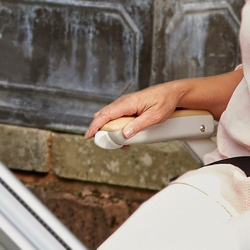 image of an outdoor stairlift
