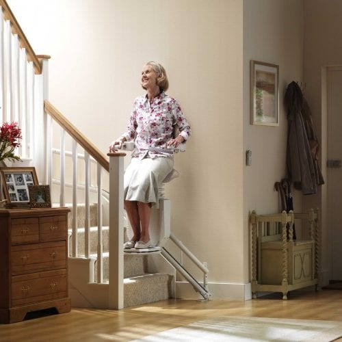 image of a standup stairlift