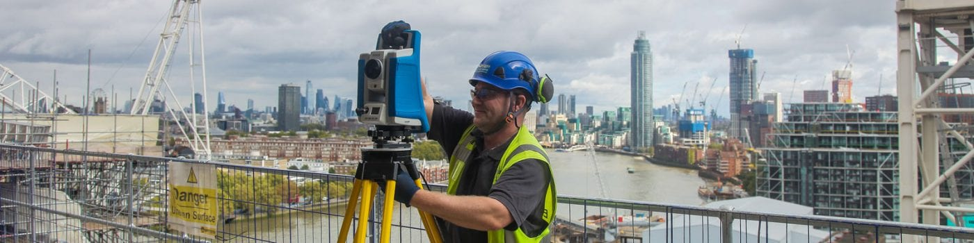 Surveyor for hire using total station