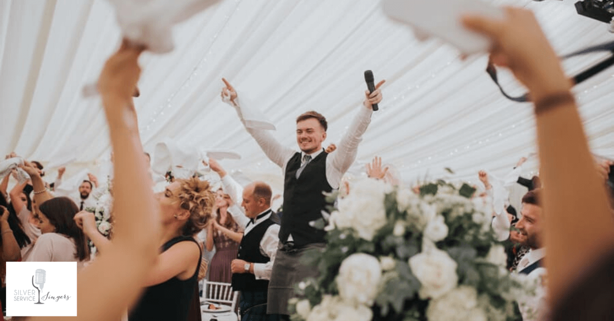 Singing waiters arranged by a wedding planner