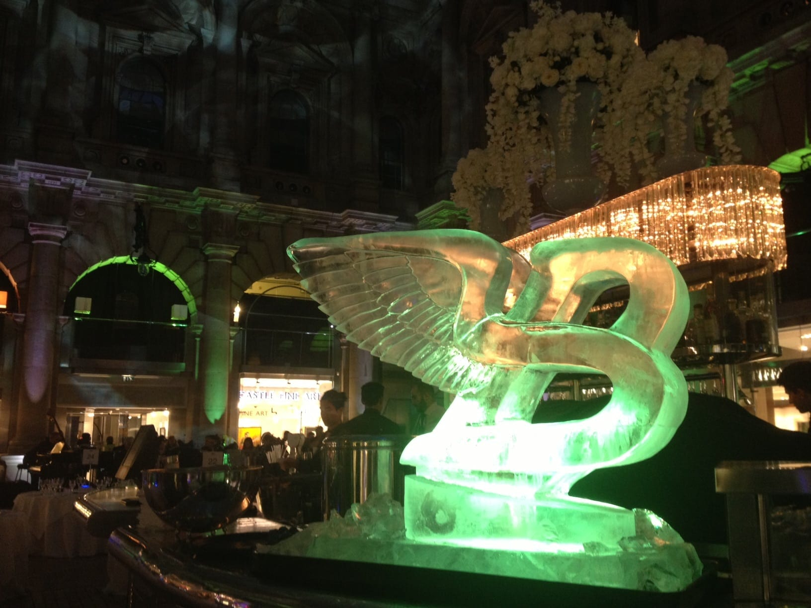 Bentley ice sculpture - Ice Sculpture Commissions In London