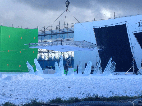 Ice Henge set - Glacial Art and HBO - Together Again