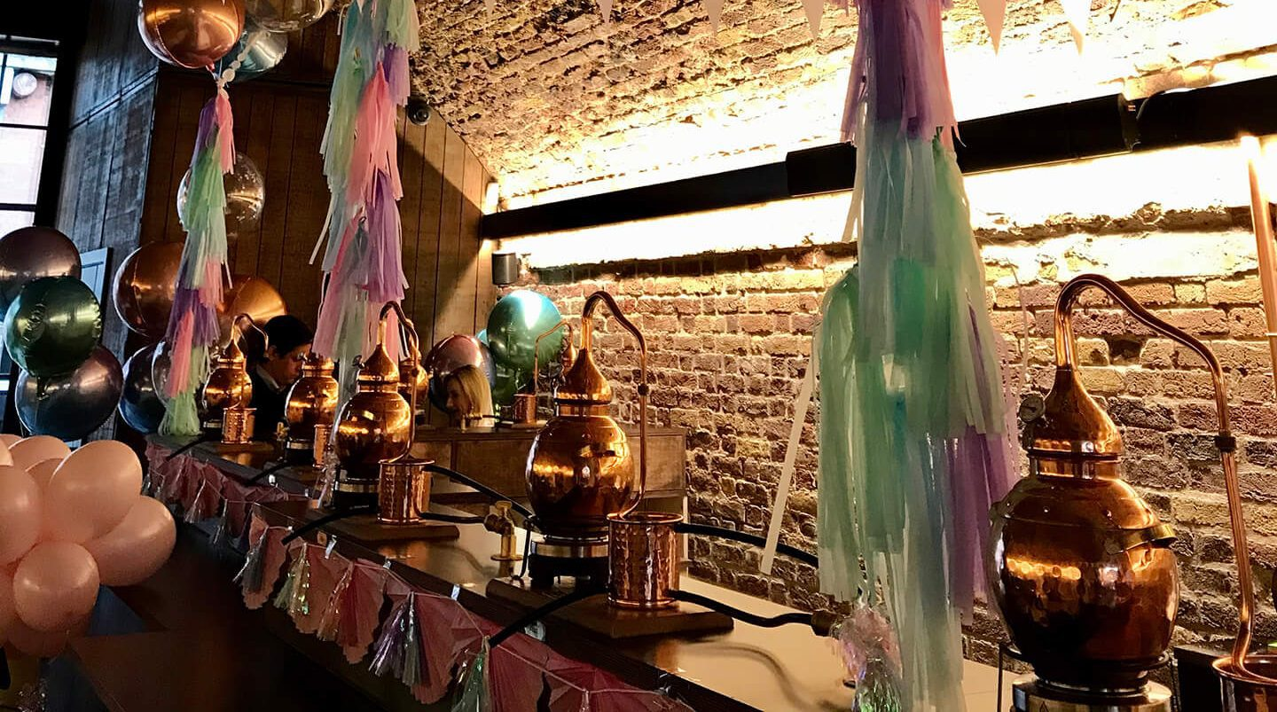 London Gin distillery room hire