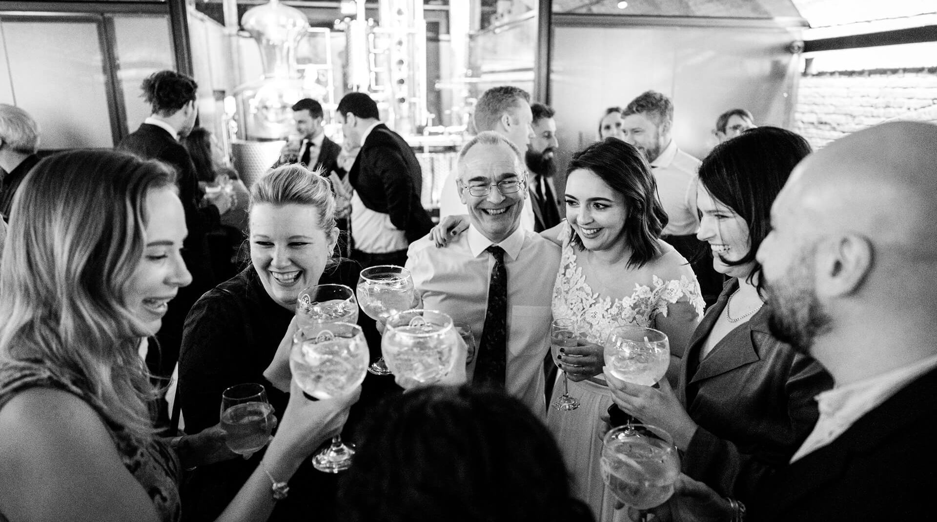London Gin distillery wedding venue hire
